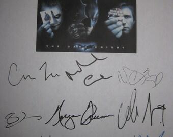 The Dark Knight Signed Film Movie Screenplay Script X13 Autograph Christian Bale Heath Ledger Aaron Eckhart Morgan Freeman Michael Caine