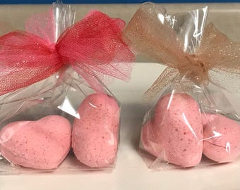 Heart shaped Valentines Bath Bombs
