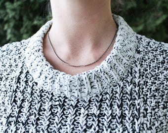 Jet Multi Strand Choker Necklace