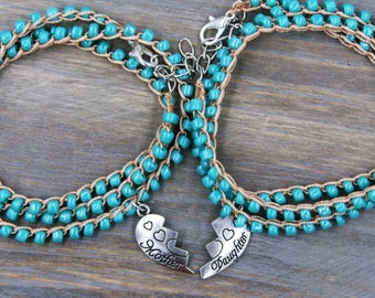 Gift for Mother from Daughter, Gift for Daughter from Mom, Matching Mother Daughter Jewelry Set, Matching Mom and Daughter Bracelets, Gifts
