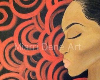 Black woman, african American art, black art print