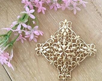 VINTAGE - cross brooch