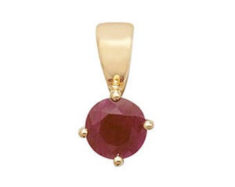 Ruby Pendant July  Birthstone