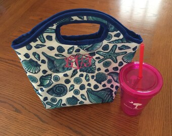 Monogrammed Insulated Lunch Tote- Personalized Lunch Bag- Cooler Bag