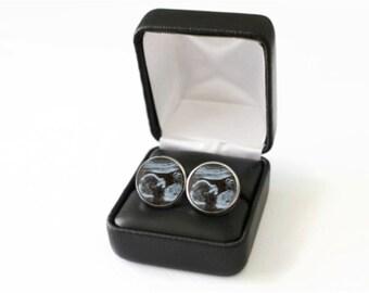 Custom Ultrasound Gift Cufflinks, Father's Day Gift for Grandpa, Personalized Ultrasound Cufflink, Pregnancy Announcement Grandparent