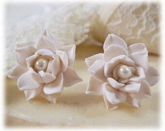 Lotus Earrings Stud or Clip On - Lotus Jewelry