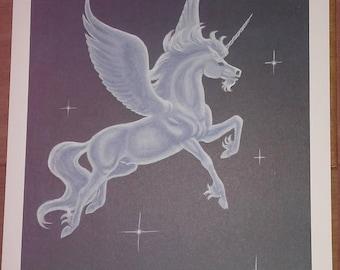 Vintage Unicorn Print by Marguerite Fields
