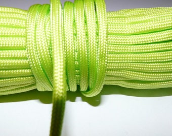 Rope, rope paracord paracord 550 rope green neon 4 mm 7 strand by the yard