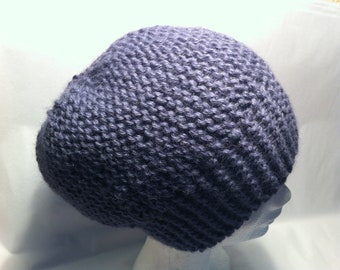 Purple alpaca wool hat