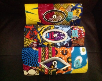 Beautiful  authentic  African print purse
