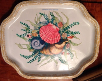 Small Seashell Tea Tray by Elite Trays England