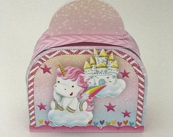 Unicorn 3 favor box, unicorn gift box, unicorn party favor box, unicorn party