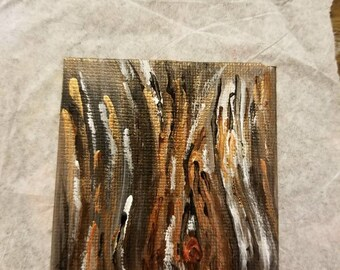 Tree bark magnet