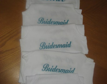5 CUSTOM Bride Bridesmaid and More Tank Tops for the Wedding Party