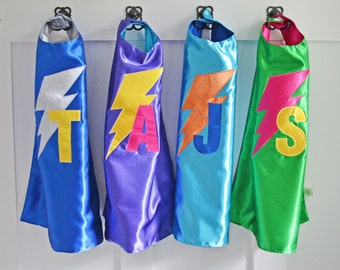 Superhero capes for boys and girls, costume cape, superhero cape, personalized superhero cape, dress up cape, Christmas gift, satin cape