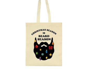 Christmas Season Is Beard Season Tote Bag