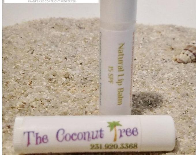 No Flavor Natural Lip Balm // All Natural Lip Balm // Coconut Oil / Shea Butter / Cocoa Butter / SPF Lip Balm