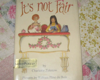 Vintage It's Not Fair by Charlotte Zolotow 1976 First Edition Former Library