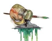 Watercolor Brush Painting...