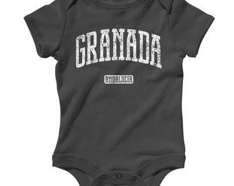 Baby Granada Spain Romper - Infant One Piece - NB 6m 12m 18m 24m - Granada Baby - 3 Colors