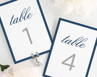 """Sophisticated Modern Table Numbers - 5x7"""""""