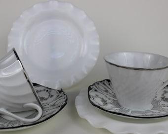 Dépareillées Chine thé tasse Trio Tea Party