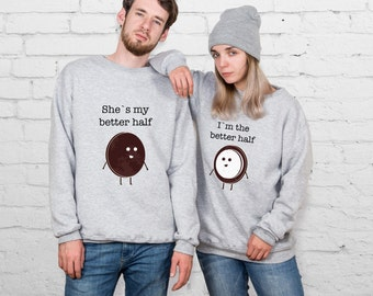Couple Sweater Coconut Tumblr Sweater Couple Sweatshirt Couple Pullover Valentines Day Gift Matching Sweaters Aesthetic Gift For Him YP3313