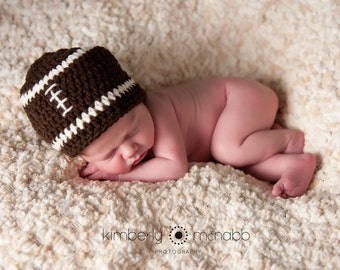 Baby Boy Hat, Ready to Ship, Football Beanie, Crochet Baby Hat, Football Hat, Baby Newborn Hat, Baby Hat, Newborn Prop, Baby Boy Beanie
