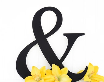Ampersand Metal Sign - Black, 12x12.5, Ampersand, Wedding Sign, Wedding Decor, Wall Art, Outdoor Sign, Ampersand Sign
