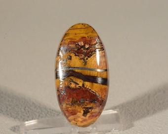 Ring Cabochon Marra Mamba Tigers Eye. Handcrafted USA. Natural Gemstone.