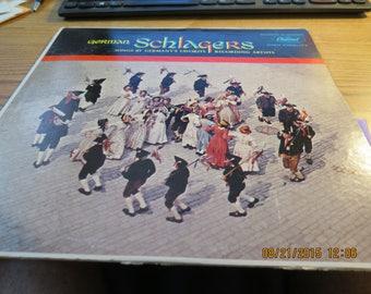 German Schlagers LP Vinyl Record Capitol T10046 1960's