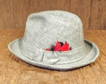 "Vintage Dobbs Fifth Avenue tweed men's Fedora, size 7, 22"", size medium, free shipping"