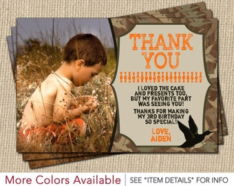 Camo birthday card etsy duck hunting thank you card personalized camo birthday thank you cards bookmarktalkfo Image collections