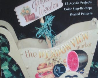 """Folk Art 1998 Decorative book """" The  Meadowview  Market """" by Brenda Janson CDA 30 pages used book"""