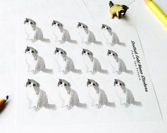Scottish Fold Stickers, Nemo the Cat Series, Planner Stickers, Weekly Sticker, Art, Erin Condren, Scottish Fold Nemo the Cat Series