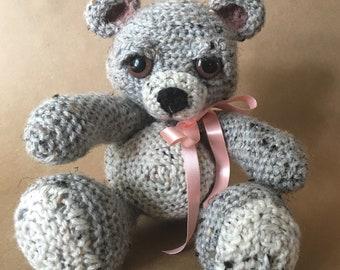 Grey Tweed Bear