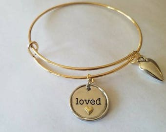 Bangle of Love - Adjustable, Stackable - Gift