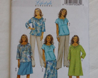 Butterick 5722 Womens' Separates Sewing Pattern / O-O-P Sewing Pattern / Lifestyle Wardrobe / Sz 18-24