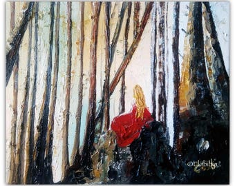 "Oil painting ""The Ruby fairy"""