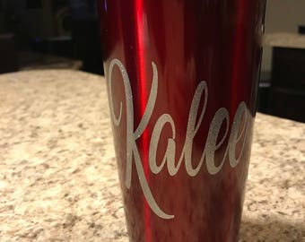 Personalized Double Insulated 20 oz Tumblers