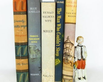 5 Novels with Dust Jackets from the 1950's