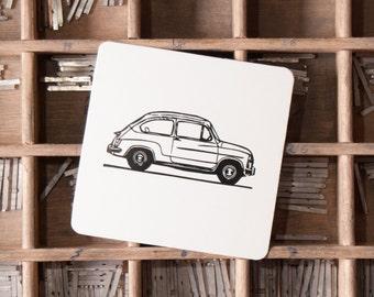 Pack 25 Letterpress Classic Cars Coasters Seat 600