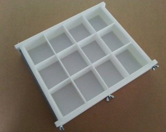 HDPE Soap Mold,12 BAR, 3Lb Y-LINE Tray Slab Mold Silicone Candle Casting & Making