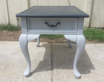 Wood End Table With Annie Sloan Paint