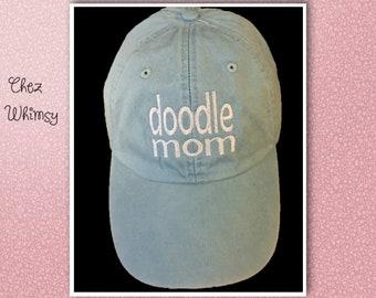 Baseball Cap, Doodle Mom Cap, Women's Baseball Cap, Monogram Cap, Monogrammed Hat, Goldendoodle Mom