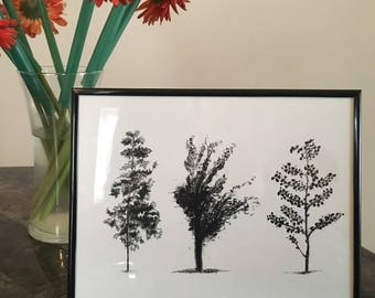 Three Trees, Best Seller, Charcoal, Trend, Home Decor, Artwork, Value