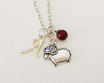 Sheep  Necklace Personalized necklace Sheep Jewelry Gift necklace Initial necklace