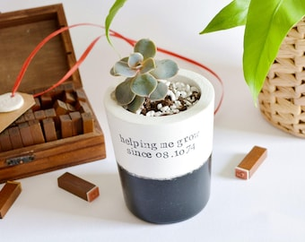 Father's day gift, succulent, cactus, personalised vase, daughter son best dad, home decor design, desk office, single dad, stepfather