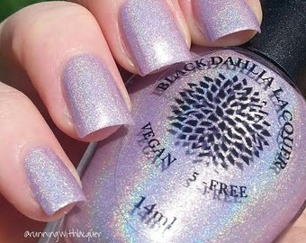 Pink Holo Shimmer Nail Polish -- Mountain Laurel by Black Dahlia Lacquer