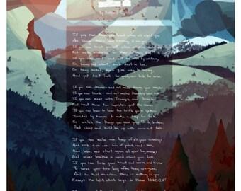 IF, by Rudyard Kipling poster Mountain